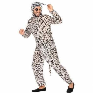 Dierenpak carnavalskleding dalmatier hond voor volwassenen