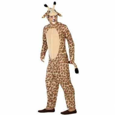 Dierenpak carnavalskleding giraffe voor volwassenen