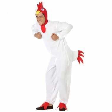 Dierenpak carnavalskleding kip/haan voor volwassenen
