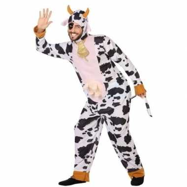 Dierenpak carnavalskleding koe voor volwassenen