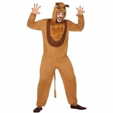 Dierenpak carnavalskleding leeuw voor volwassenen