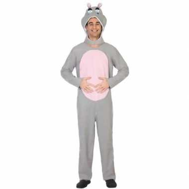 Dierenpak carnavalskleding nijlpaard voor volwassenen