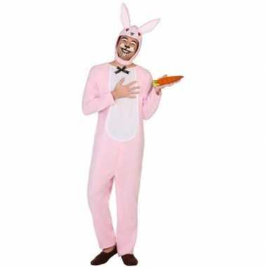 Dierenpak carnavalskleding paashaas/konijn voor volwassenen