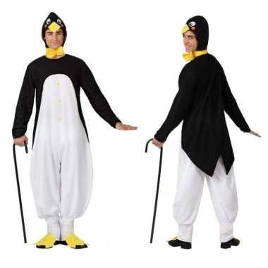 Dierenpak carnavalskleding pinguin voor volwassenen