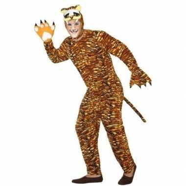 Dierenpak carnavalskleding tijger voor volwassenen