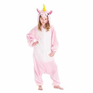 Dierenpak eenhoorn pinky onesie carnavalskleding voor kinderen