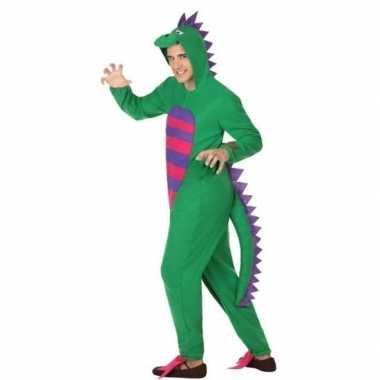 Dierenpak groene draak carnavalskleding voor heren