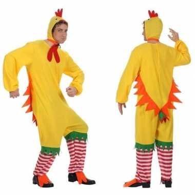 Dierenpak kip/haan/kuiken carnavalskleding voor volwassenen