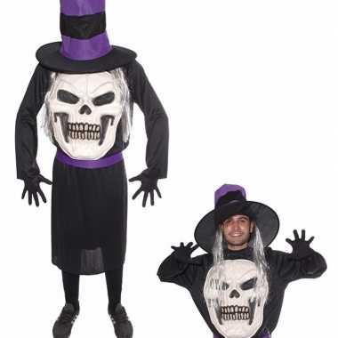 Doodskop met hoed carnavalskleding voor heren