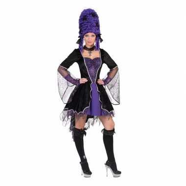 Dracula carnavalskleding jurk paars