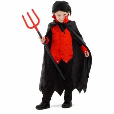 Dracula/vampier carnavalskleding met cape voor kinderen