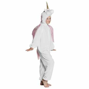 Eenhoorn dieren onesie/carnavalskleding voor kinderen wit
