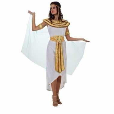 Egyptische farao cleopatra carnavalskleding/jurk wit voor dames