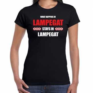 Eindhoven/lampegat carnaval carnavalskleding / t shirt zwart dames