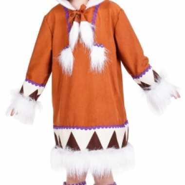 Eskimo carnavalskleding met laarshoezen voor meisjes