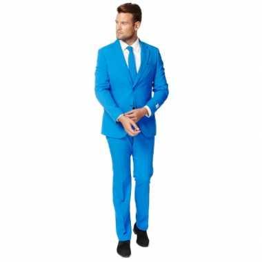 Fel blauw zaken carnavalskleding voor heren