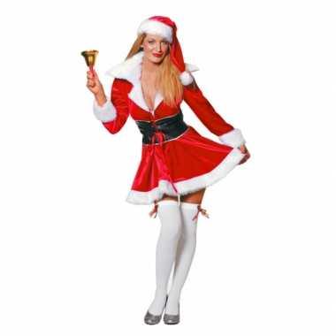 Fluwelen kerstvrouw carnavalskleding