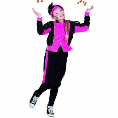 Fuchsia pieten carnavalskleding voor meisjes