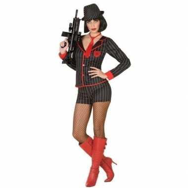 Gangster carnavalskleding voor dames