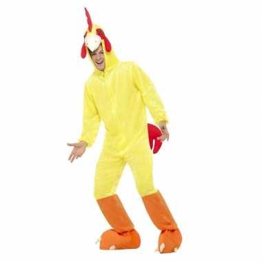 Geel kip/haan carnavalskleding voor volwassenen
