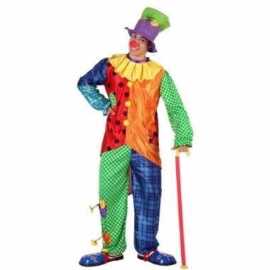 Gekleurd clowns carnavalskleding voor mannen