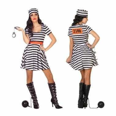 Gevangene/boef bonnie carnavalskleding/jurk voor dames