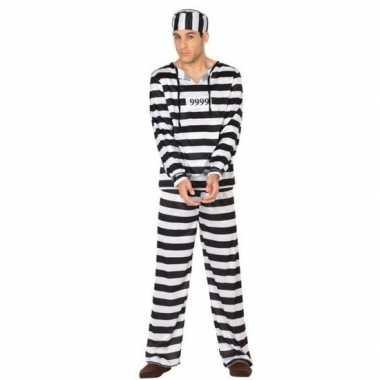Gevangene/boef clyde carnavalskleding voor heren