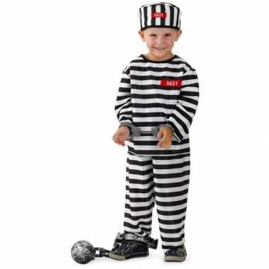 Gevangene carnavalskleding voor jongens