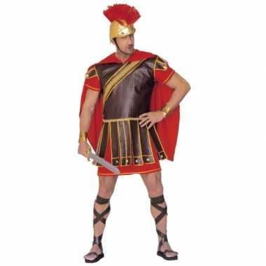 Gladiator carnavalskleding rood bruin heren