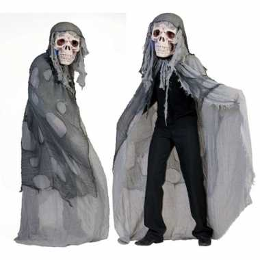 Grijs doodshoofd spook carnavalskleding