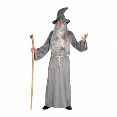 Grijze magische tovenaar carnavalskleding voor heren