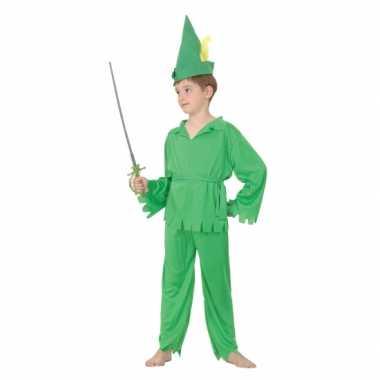 Groen elfjes carnavalskleding voor jongens
