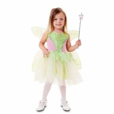 Groene fee carnavalskleding voor meisjes