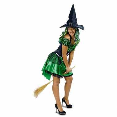 Groene heks alexia carnavalskleding/jurk voor dames