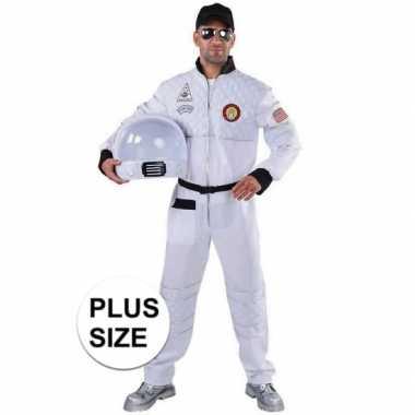 Grote maat astronaut carnavalskleding voor heren