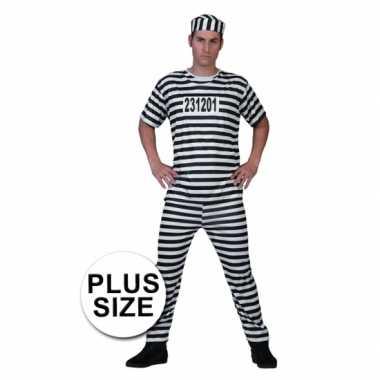 Grote maat gevangenen carnavalskleding