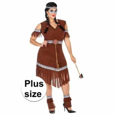 Grote maat indianen nahele pak/carnavalskleding voor dames
