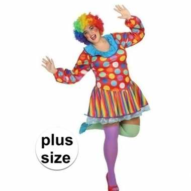 Grote maten clown jurk/carnavalskleding voor dames