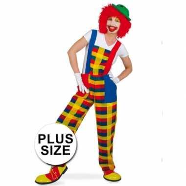 Grote maten clown pebbi carnavalskleding voor volwassenen
