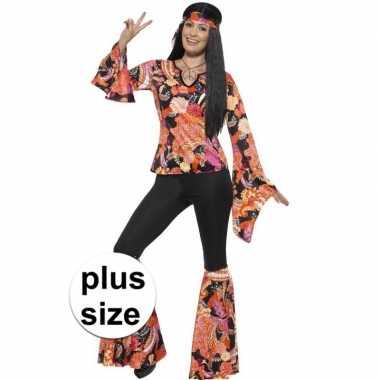Grote maten hippie carnavalskleding willow voor dames