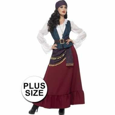 Grote maten piraat carnavalskleding voor dames