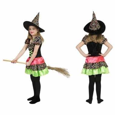 Heksen carnavalskleding jurk incl. hoed