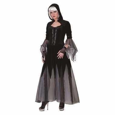 Heksen carnavalskleding jurk zwart