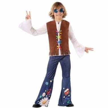 Hippie/flower power carnavalskleding voor jongens