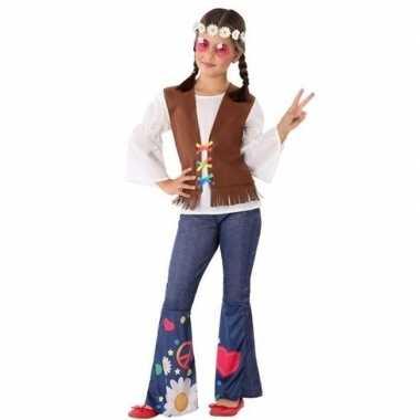 Hippie/flower power carnavalskleding voor meisjes