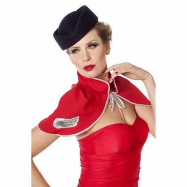 Hoedje voor bij een stewardes carnavalskleding