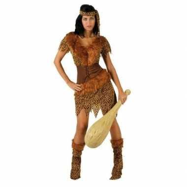 Holbewoonster/cavewoman ayla carnavalskleding/jurk dames