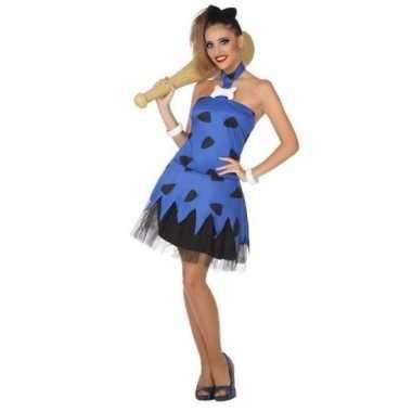 Holbewoonster/cavewoman betty carnavalskleding/jurk voor dames