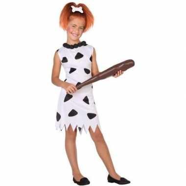 Holbewoonster/cavewoman wilma carnavalskleding/jurk voor meisjes