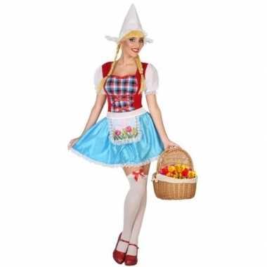 Hollands meisje carnavalskleding 3 delig voor dames